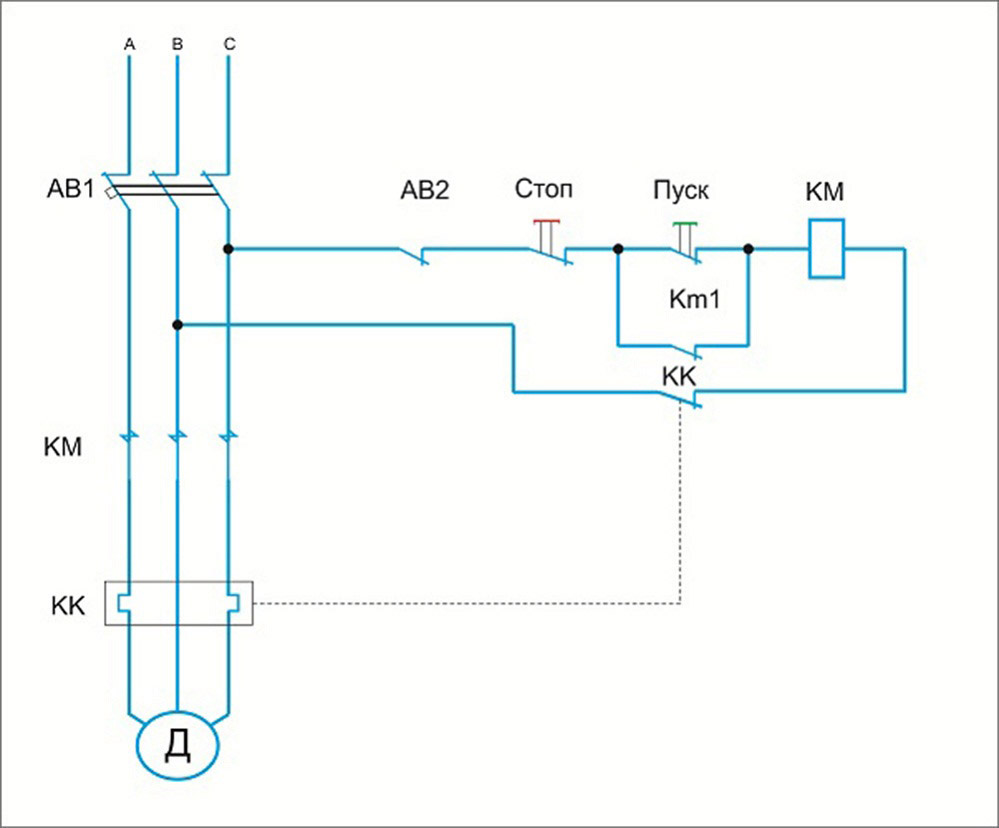 Плавный пуск трёхфазного электродвигателя