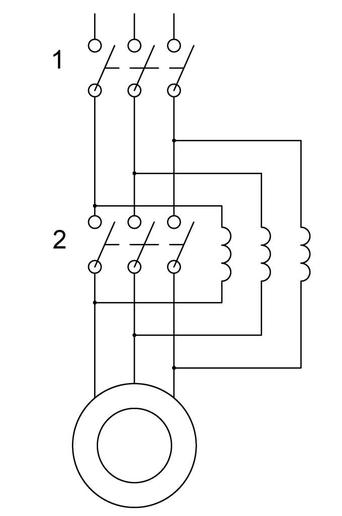 реакторный пуск асинхронного двигателя