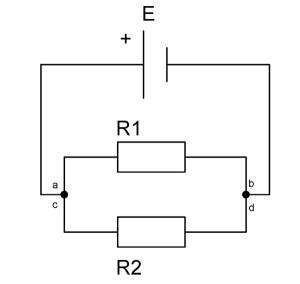 резисторы соединенны параллельно